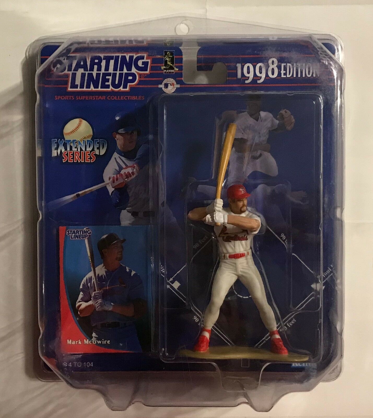 1998 STARTING LINEUP - MARK MCGWIRE - CARDINALS - ACTION FIGURE IN CASE