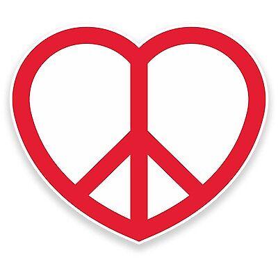 2 X Corazón De Paz Pegatina de vinilo coche viaje equipaje #9306