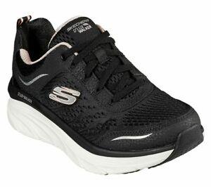 Black Skechers Shoes Women Sport Comfort D'lux Walker Memory Foam Cushion 149023