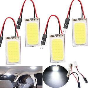 NEW White 48 SMD COB LED T10 4W 12V Car Interior Panel Light Dome Lamp Bulb #