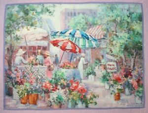 Dimensions-034-Open-Air-Flower-Market-034-Cross-Stitch-Completed-Finished