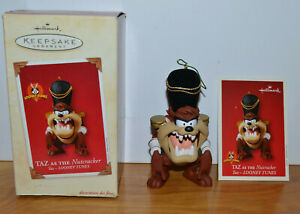 HALLMARK-LOONEY-TUNES-TAZ-NUTCRACKER-CHRISTMAS-ORNAMENT-TASMANIAN-DEVIL-2003