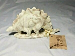 Mt St Helen's Volcano Ash Pottery Cougar Washington Stegosaurus Dinosaur