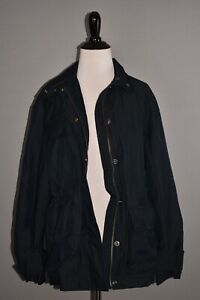 VINCE NEW $495 Solid Flap Pocket Zip Anorak Jacket in Coastal Small