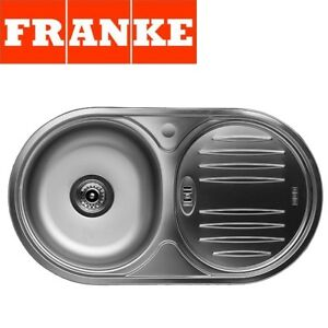 FRANKE BALTIC ROUND SINGLE 1.0 BOWL DRAINER & WASTE STAINLESS STEEL ...