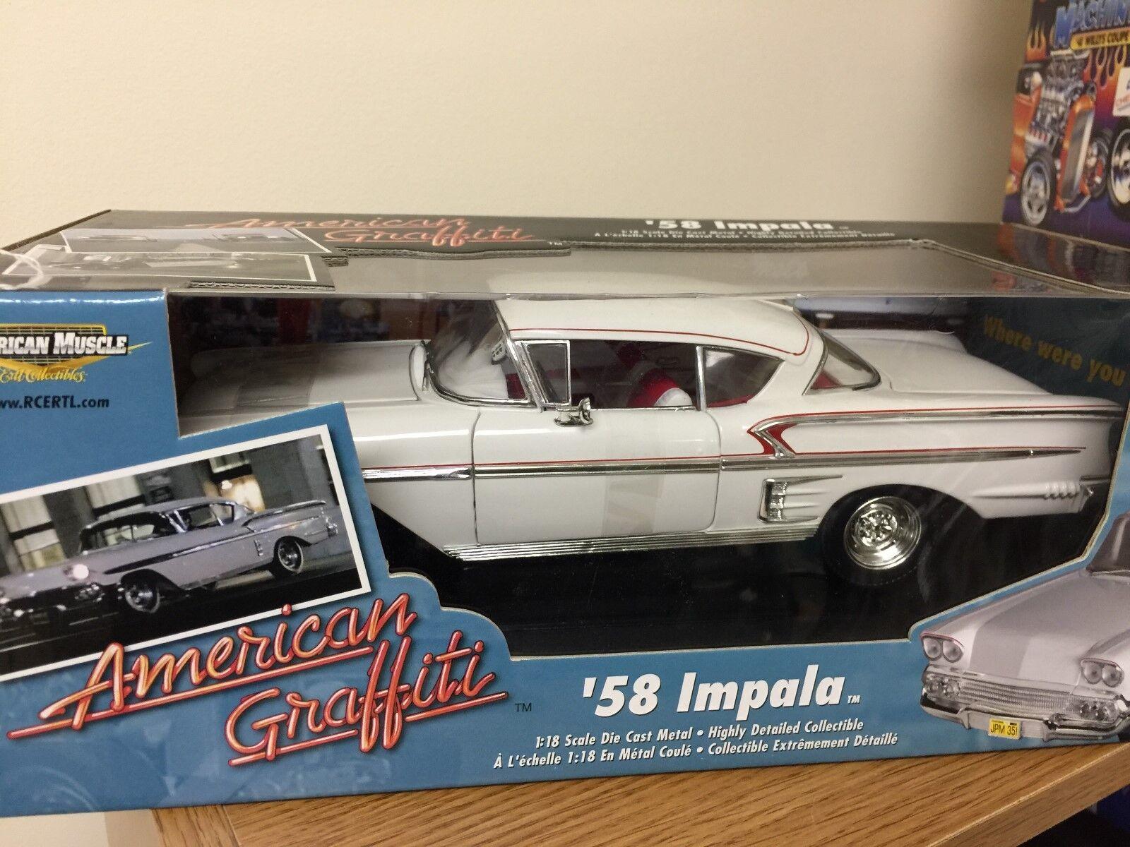1 18 Die Cast American Muscle American Graffiti Impala'58