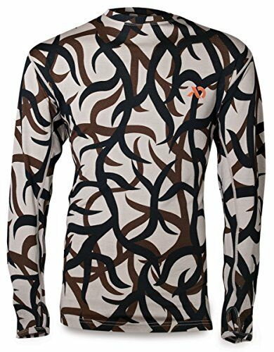Long Sleeve Crew Top,  Wool Print Soft Camo, Odor-Resistant Antibacterial S Small  in stadium promotions