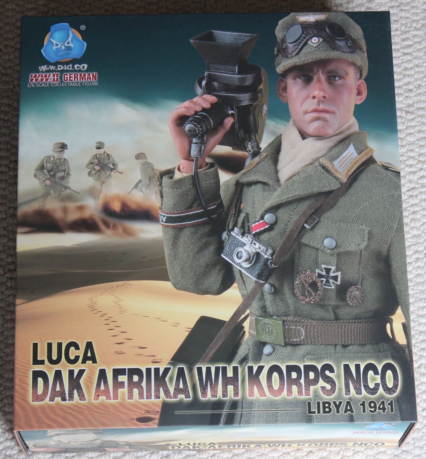 Did action figure german afrika korps luca  1 6 12'' boxed hot toy ww11 dragon
