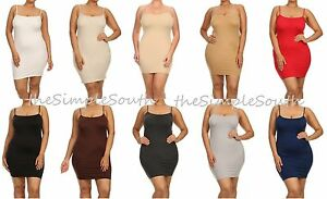 e15cdebcf Details about New YELETE Layering Tunic BodyCon Cami Tank Top Slip Dress  Liner Extender O S