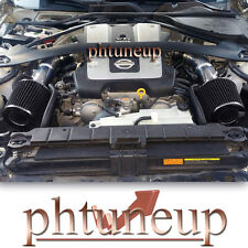 BLACK fit 2008-2013 INFINITI G37 3.7 3.7L DUAL TWIN AIR INTAKE KIT SYSTEM