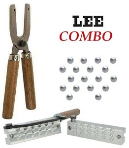 LEE-18-Cavity-00-Buckshot-Bullet-Mold-AND-Lee-Mold-Handles-90486-90005-New