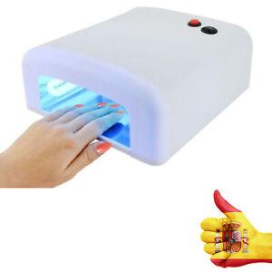 Manicura UV Gel Ultravioleta Nail Secador Detalles de Uñas Blanca de Esmalte Art Lampara 36W WD9HIY2E