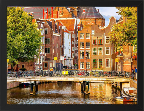 AMSTERDAM HOLLAND NEW A3 FRAMED PHOTOGRAPHIC PRINT POSTER
