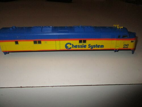CHESSIE SYSTEM C/&O 3042 LOCOMOTIVE BODY SHELL ONLY PLASTIC SHELL UNUSED