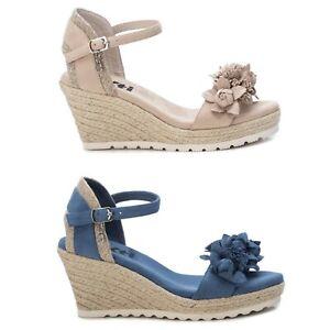 XTI Mujer Sandalias Cuñas Verano Zapatos Chanclas 23007