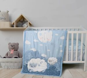 Malak 3 Piece Baby Crib Bedding Set