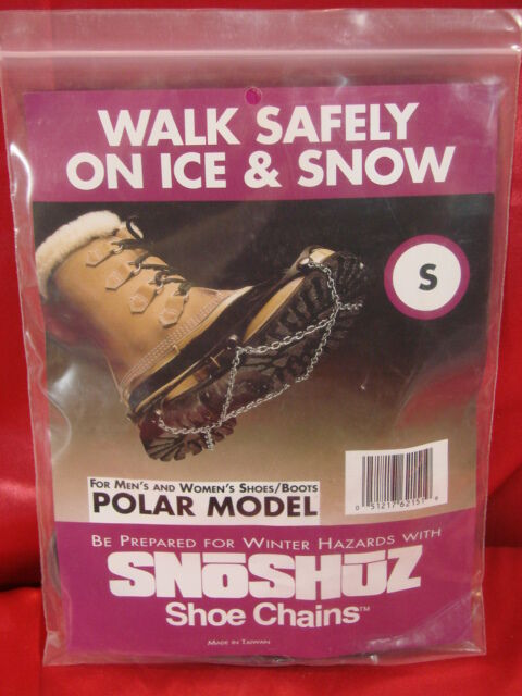 SnoShuz Shoe Chains Polar Size S Safety on Ice and Snow Mens Womens Sz 4.5-6