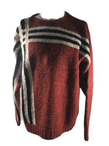 Authentic Burberry Cable Knit Mohair Blend Burnt O
