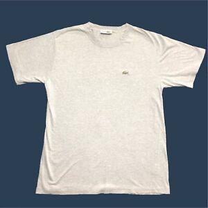 Mens-Vintage-Lacoste-T-Shirt-Medium-3-Grey-Short-Sleeve