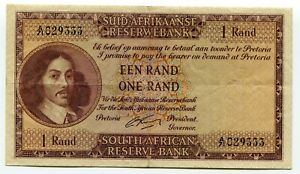 South-Africa-One-Rand-Rissik-1962-1965-VF-Banknote-Paper-Money-P103
