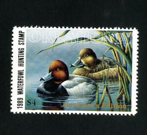 US-Duck-Oklahoma-Stamps-10a-XF-Governors-edition-OG-NH-Scott-Value-125-00