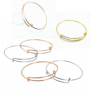 20Pcs-Bangle-Silver-Plated-Expandable-Adjustable-Bulk-Wire-Wrapped-Bracelet