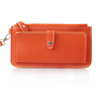 2015 New Korea womens purses handbag card bag fashion Orange color