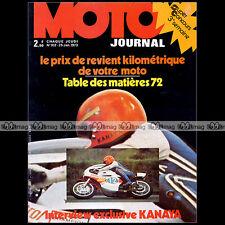 MOTO JOURNAL N°102 HIDEO KANAYA BMW R60/5 KREIDLER CZ 250 BENELLI 125 CROSS 1973