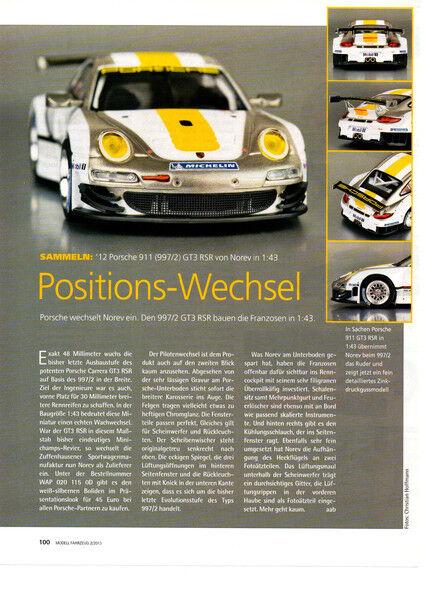 Porsche Porsche Porsche 911 (tipo 997) gt3 rsr en 1-43 de norev... un informe de modelo  2013 1bdb29