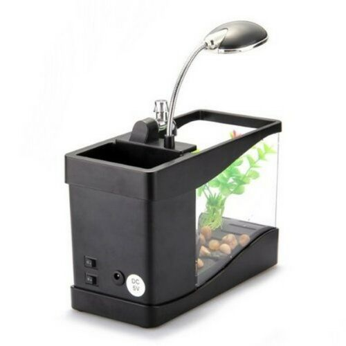 New Acrylic creative USB Eco Desktop goldfish Bowl Mini Aquarium