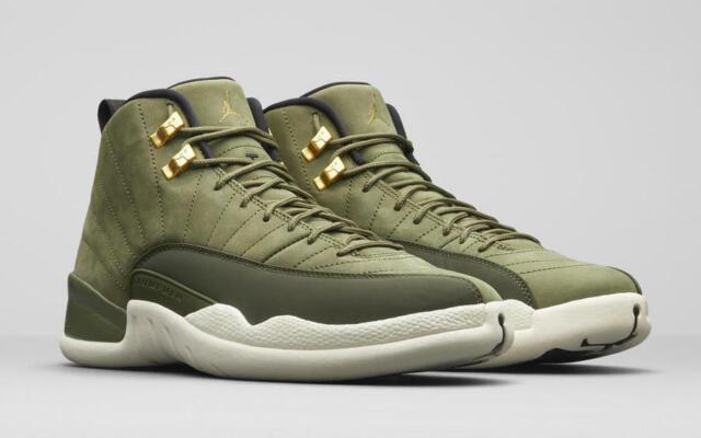 size 40 f41a4 26312 Nike Air Jordan 12 Retro Chris Paul Class of 2003 Olive Canvas Men  130690-301