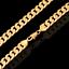 18k-Goldkette-Panzerkette-vergoldet-60cm-dicke-Damen-fuer-Maenner-Herren-Halskette Indexbild 1