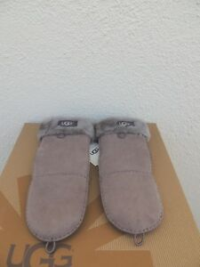 fe5f0caafee Details about UGG FLIP MITT STORMY GREY SUEDE/ SHEARLING WINTER MITTENS  ~WOMEN L/ XL ~NEW