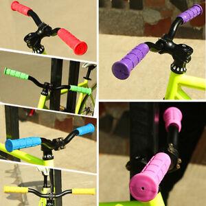 2PCS-BMX-MTB-Bike-Mountain-Bicycle-Handle-Handlebar-Soft-Rubber-Bar-End-Grips
