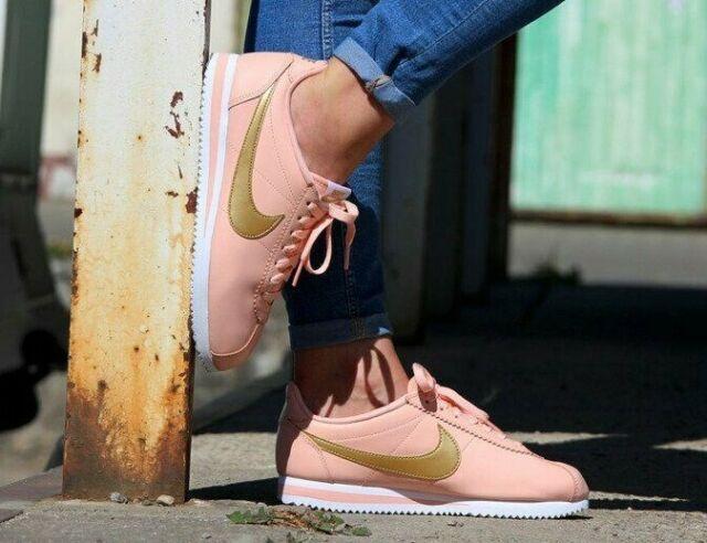 escándalo erupción Chaqueta  Nike Classic Cortez Size 8 Leather 807471-011 Light Bone Gold Women for  sale online | eBay