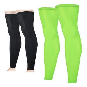Men Women Bike Cycling Leg Warmer Cover UV Sunscreen Protection Non-slip Running