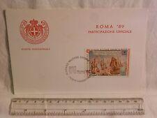 Cartolina ROMA PARTECIPAZIONE UFFICIALE POSTE MAGISTRALI Sovrano Ordine di Malta