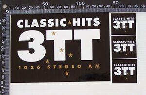 VINTAGE-CLASSIC-HITS-3TT-1026-STEREO-AM-MELBOURNE-RADIO-SOUVENIR-PROMO-STICKER