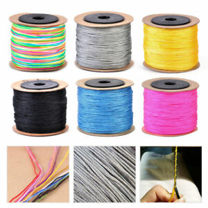 New-100M-Nylon-Chinese-Knot-Cord-Rattail-Macrame-Shamballa-Thread-String-Thread
