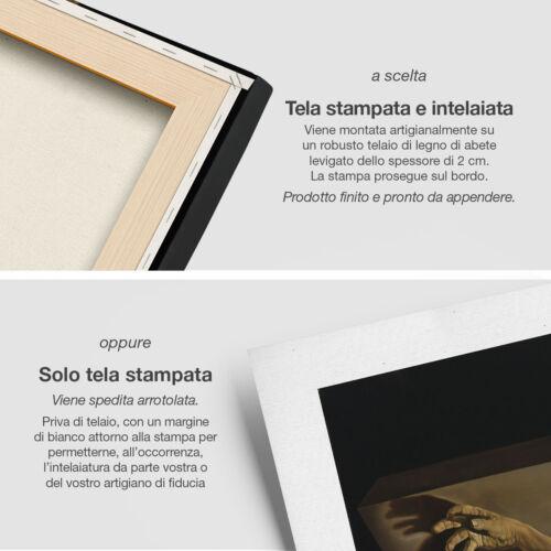 "Salvador Dalí /""Cristo di San Juan de la Cruz/"" Stampa Fine Art HR su tela Canvas"