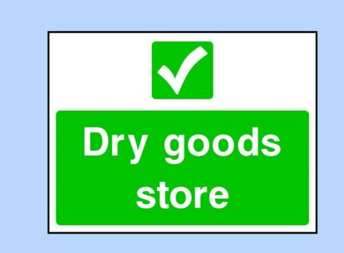 Hygiene Dry Goods Store Sign Health Hotel Sticker- FOOD0038 Food Safety