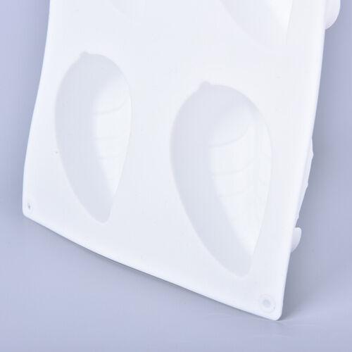 6 Hohlraum Blattform Silikonseifenform DIY handgemachte Seifenherstellung FoRSDE