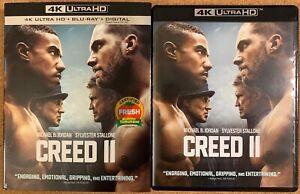 CREED-II-4K-ULTRA-HD-BLU-RAY-2-DISC-SET-SLIPCOVER-SLEEVE-FREE-WORLD-SHIPPING