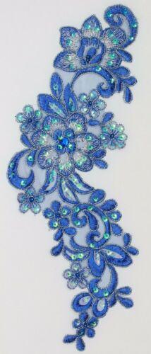 1 pieza extra grande bordado Venise encaje flores Apliques Trim motivos # 12
