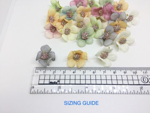 Details about  /25 X ARTIFICIAL DAISY HEADS PASTEL COLOURS CRAFT GARLAND WEDDING CARD MAKING