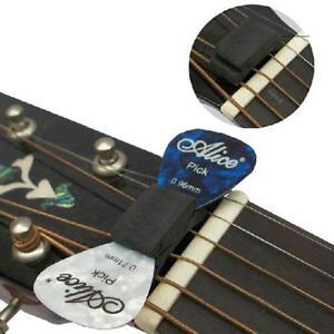 1set pro rubber with 2 free picks headstock guitar pick holder guitars basses ebay. Black Bedroom Furniture Sets. Home Design Ideas
