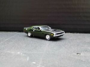 1970 Dodge Challenger Ta W Rubber Tires Dark Green Loose 164 Die