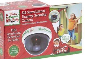 Elfi-comportarci-Male-ELF-SORVEGLIANZA-CAM-con-Telecamera-di-luce-rossa-lampeggiante-BABBO-NATALE