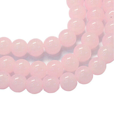 Rosa jade perlas 10mm bala 40stk semipreciosa piedra joyas Design g222