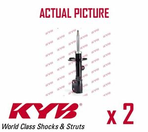 2-x-FRONT-AXLE-SHOCK-ABSORBERS-PAIR-STRUTS-SHOCKERS-KYB-OE-QUALITY-334815